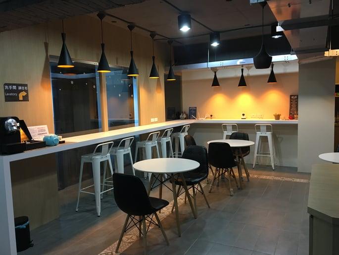 四維館共享辦公餐廳區域