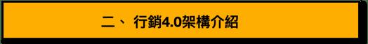 行銷4.0架構介紹